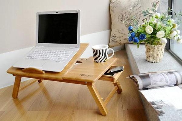 Бамбуковый столик для ноутбука и завтрака