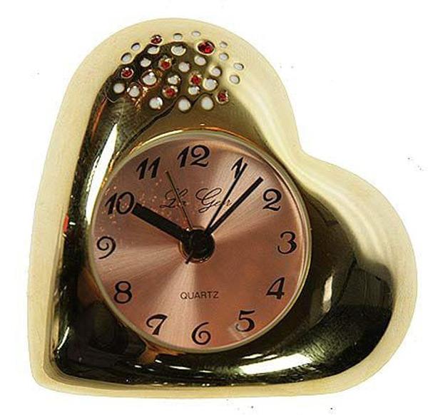 Часы-будильник «Золотое сердце»