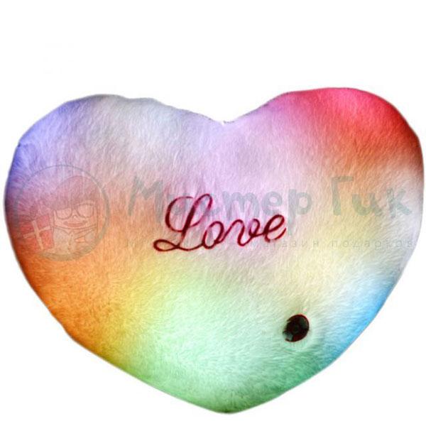 Светящаяся подушка «Сердечко»