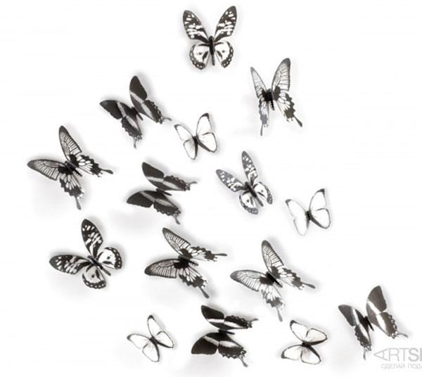 Декор для стен «Тропические бабочки»