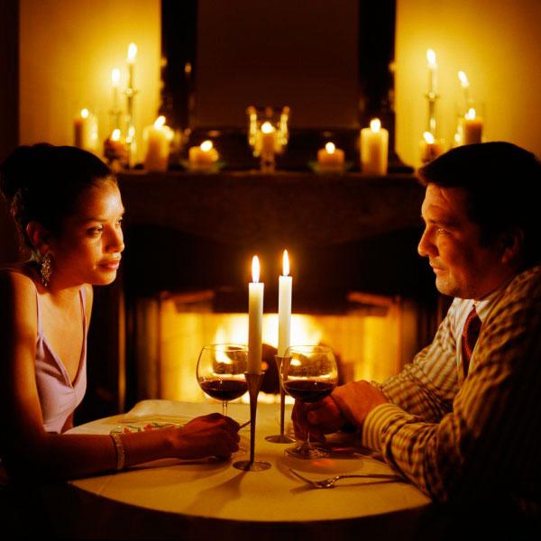 Свидание при свечах в любимом ресторане
