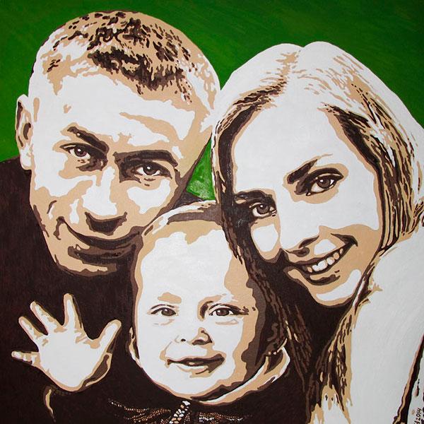 Семейный портрет в различных художественных направлениях
