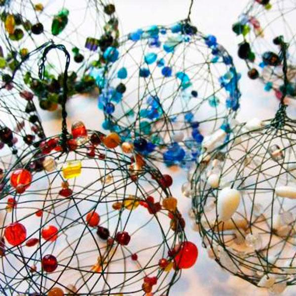 Необычные шары для украшения новогодней елки