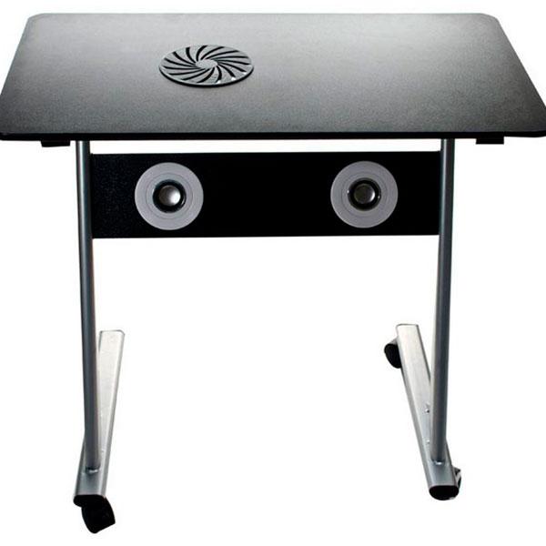 Удобный компактный компьютерный столик с вентилятором