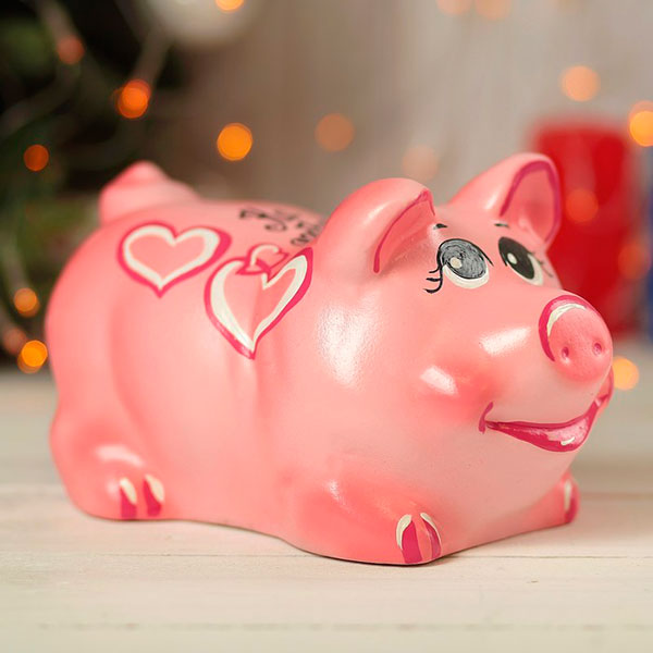 Копилка-свинка «К деньгам»