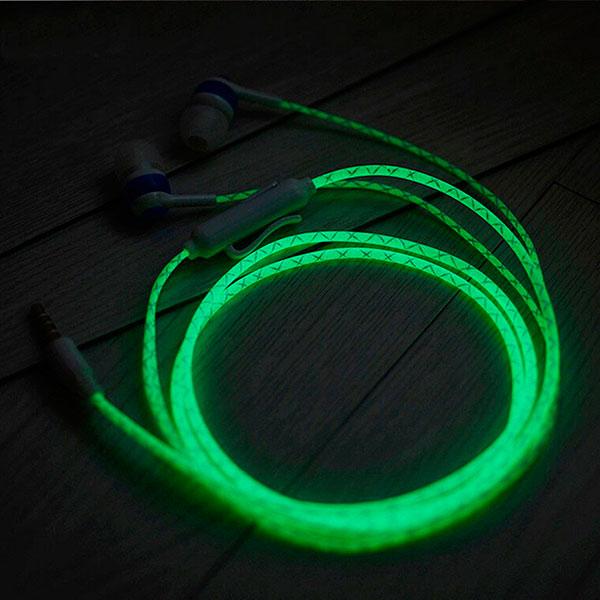 Светящиеся наушники для смартфона