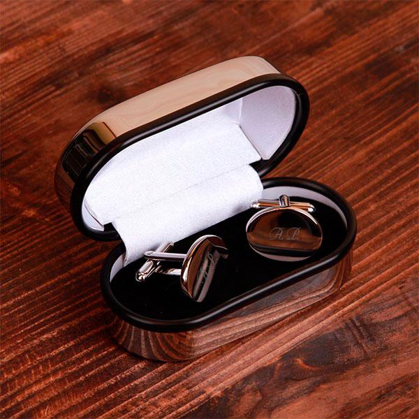 Запонки для рубашки в коробочке с индивидуальной гравировкой