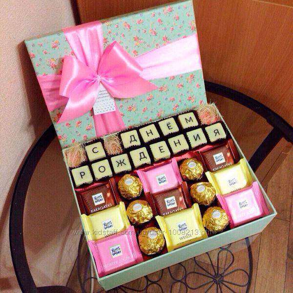 Необычный букет или коробка из любимых сладостей именинника