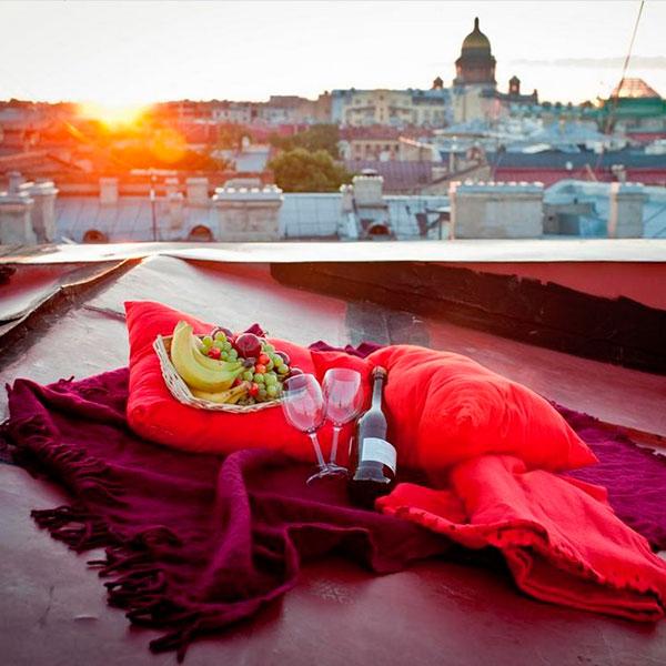 Романтическое свидание в необычном месте