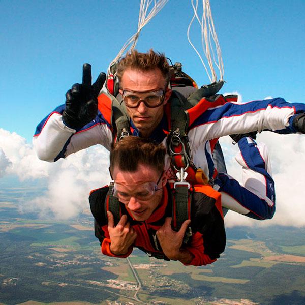 Экстремальный прыжок с парашютом с инструктором