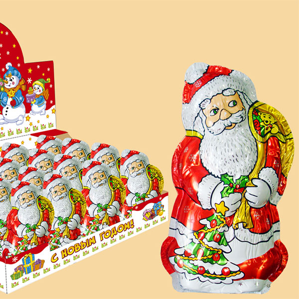 Новогодний шоколад в форме деда Мороза