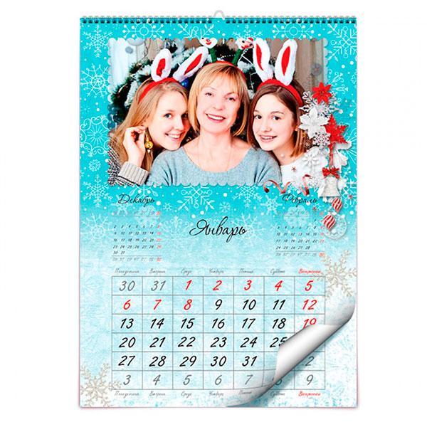 Настенный или настольный календарь с фотографиями
