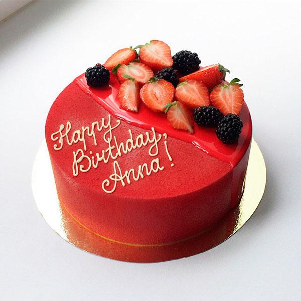 Яркий именной торт