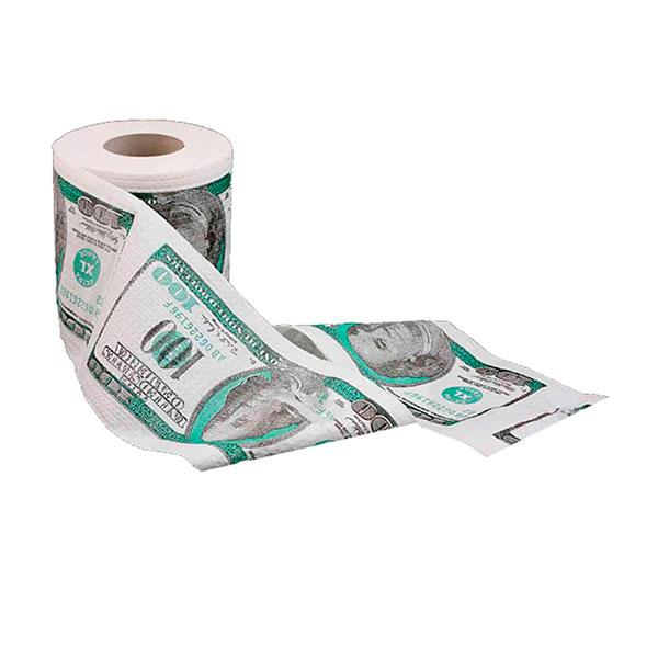 Рулон туалетной бумаги «500 евро» или «100 долларов»