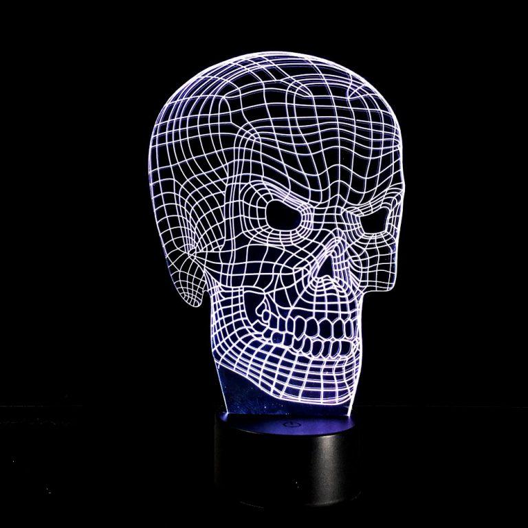 3D-светильник, имеющий форму скелета