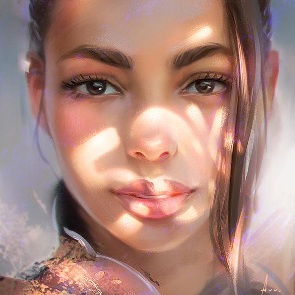 Красивый портрет, сделанный по фото