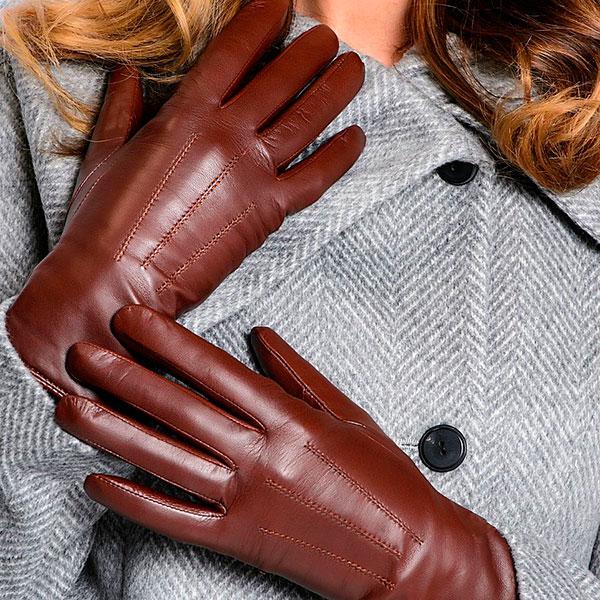 Натуральные кожаные перчатки