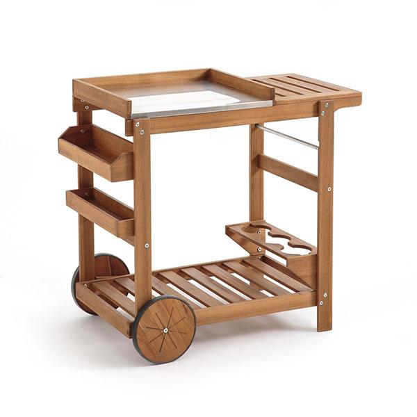 Удобный сервировочный столик на маленьких колесиках