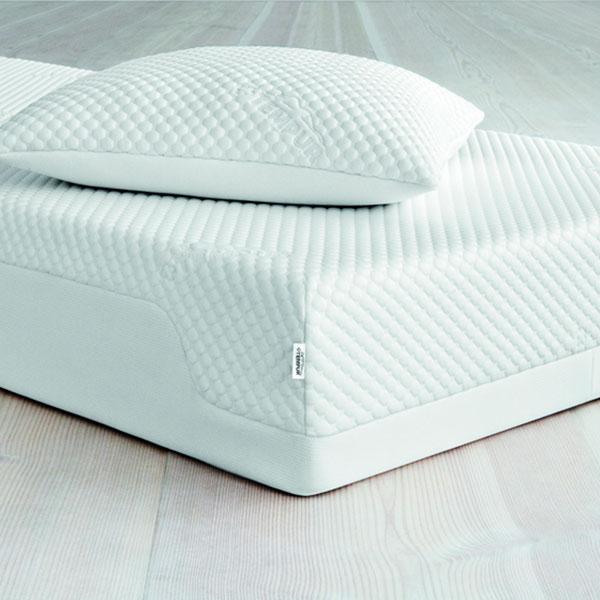 Современный ортопедический матрац с подушкой