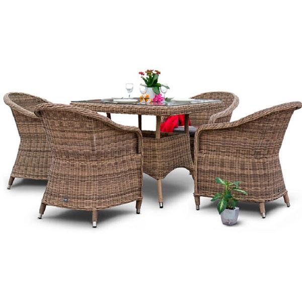 Различные наборы функциональной плетеной садовой мебели