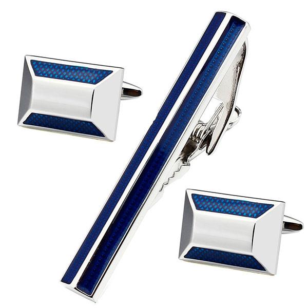 Недорогие стильные запонки либо зажим для галстука