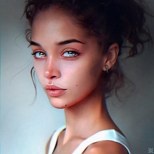 Портрет девушки в интересном стиле