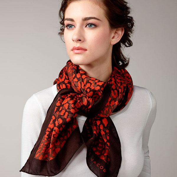 Стильный палантин или шелковый платок