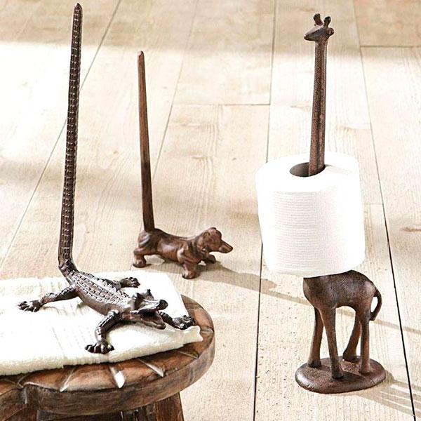 Оригинальный держатель туалетной бумаги в виде жирафа
