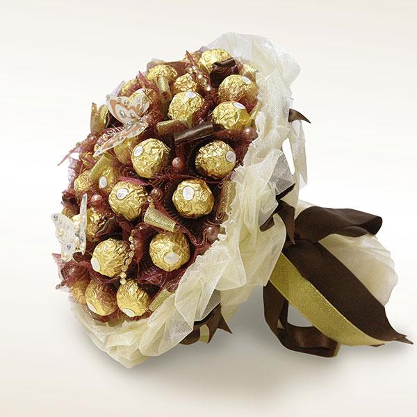 Букет или ёлочка из конфет