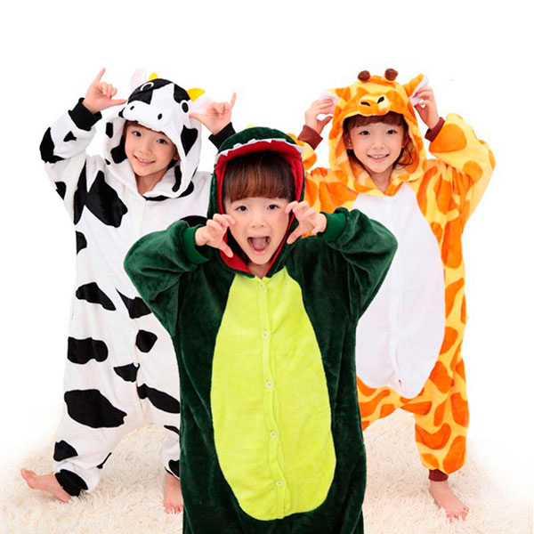 Теплая пижама в виде животного