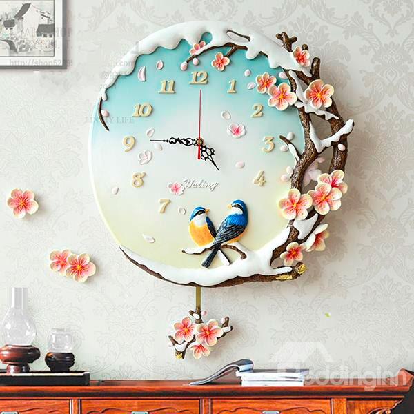 Красивые настенные часы с тематикой Нового Года