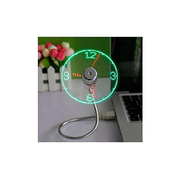 USB-вентилятор со светодиодными часами