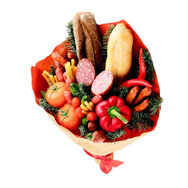 Букет из колбасы или овощей