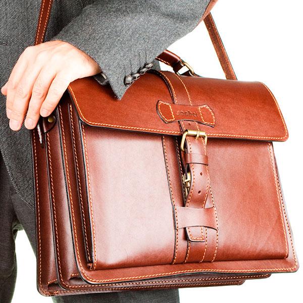 Кожаный портфель для работы