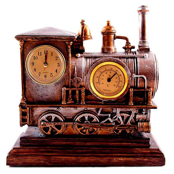 «Восточный экспресс» - изысканные часы-статуэтка, выполненные в виде паровоза