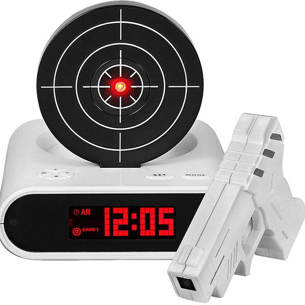 Часы-будильник с мишенью