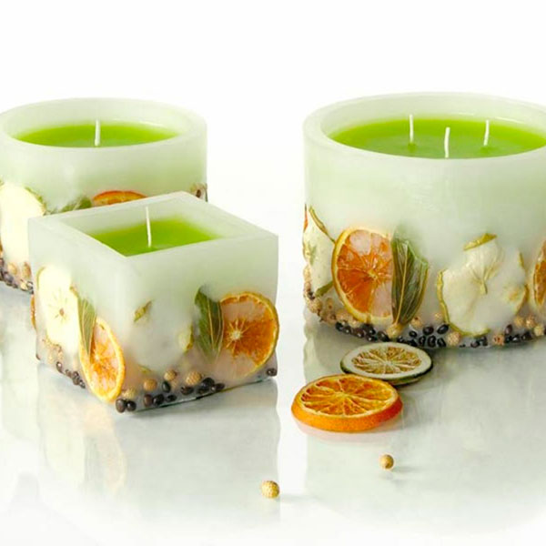 Декорированные ароматные свечи