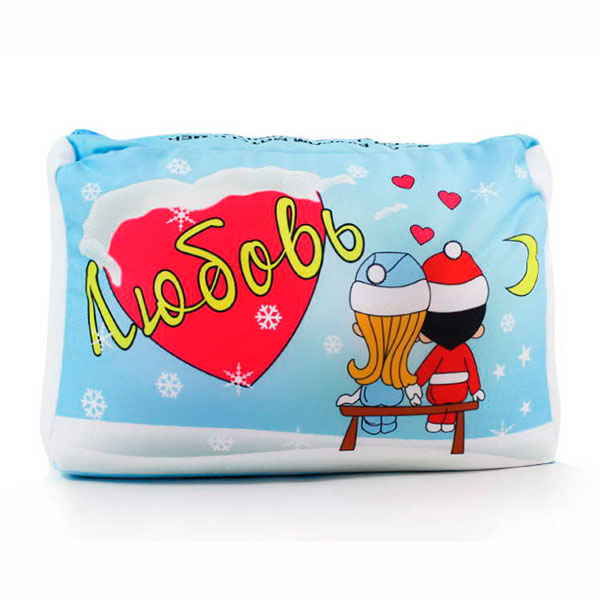 Подушка-антистресс «Любовь зимняя»