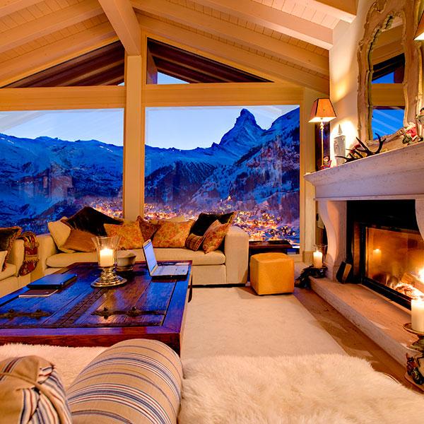 Зимний отдых в коттедже с баней и камином