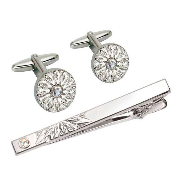 Запонки или булавка для галстука с бриллиантами
