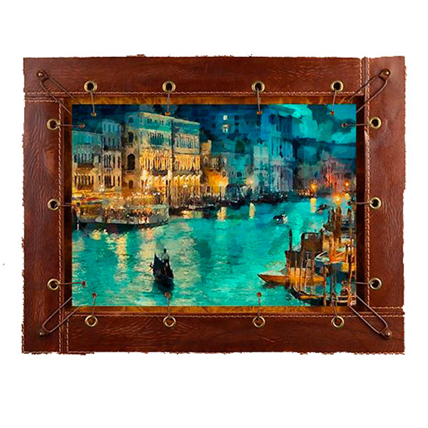 Картина из кожи «Венеция»