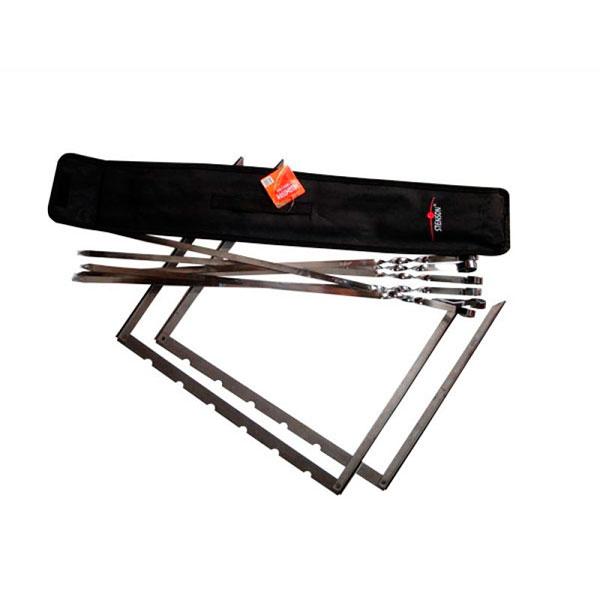 Специальный набор для шашлыков, помещенный в чехол