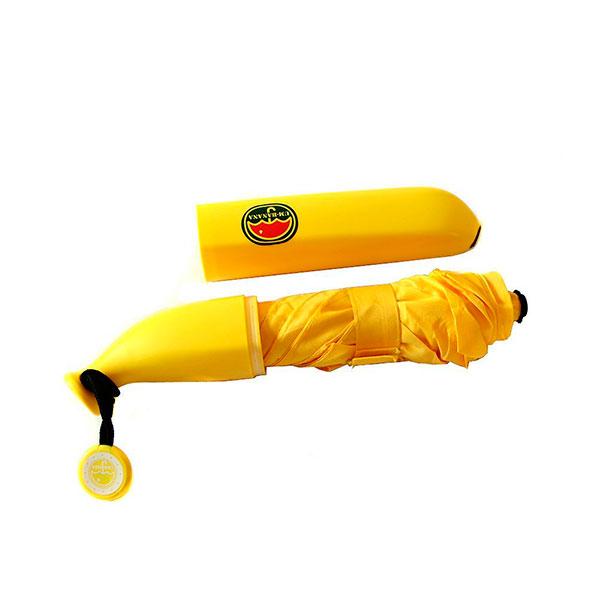 Зонт, который складывается в футляр в форме банана
