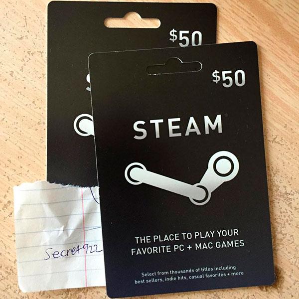 Подарочная карта Steam