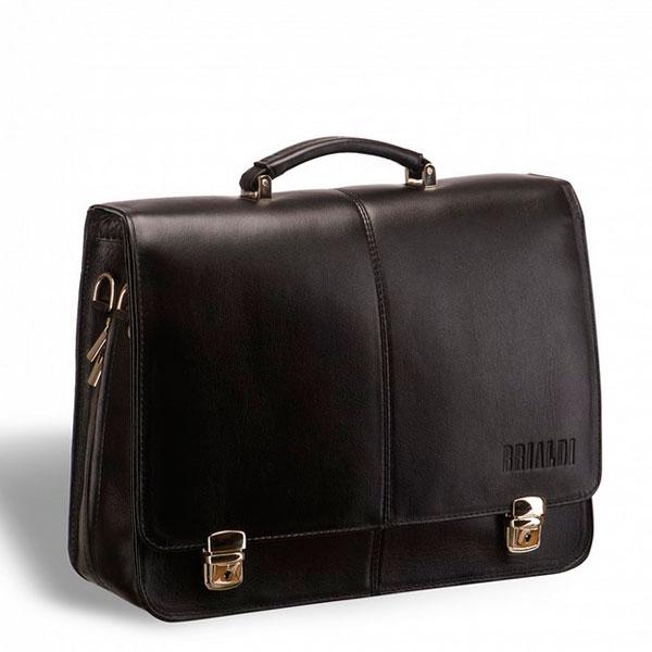 Вместительный портфель из натуральной кожи