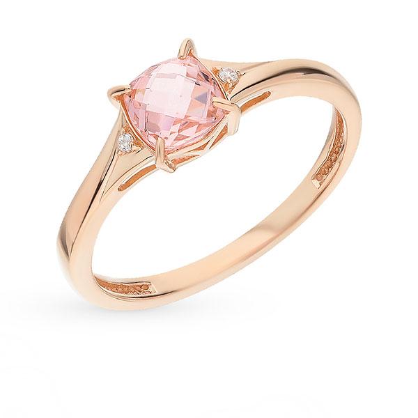 Кольцо с цветным бриллиантом