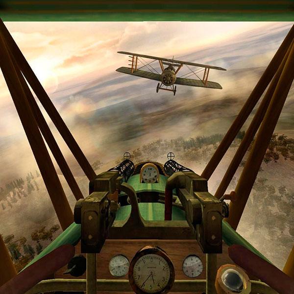 Виртуальный воздушный бой на авиасимуляторе