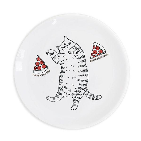 Тарелка со смешным принтом