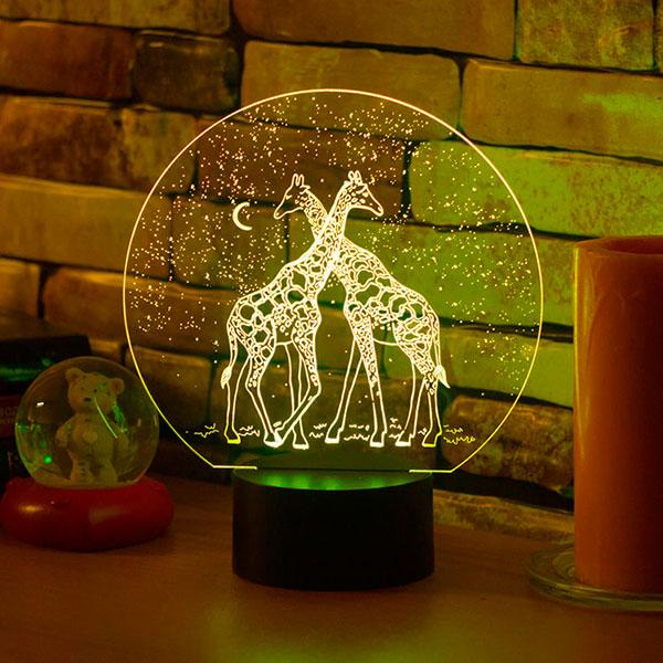 3D-светильник «Жирафы»