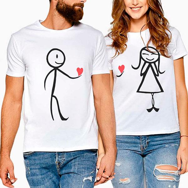 Интересные футболки для влюбленной пары